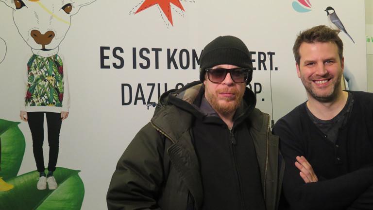 Ferris MC mit dem Moderator Ralph Günther.