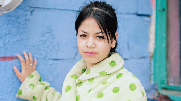 Porträt einer jungen Rumänin in der Fotoserie