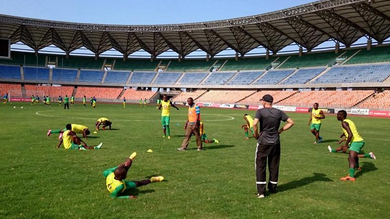 Martin Grelics beim Training seiner Mannschaft Toto Africa