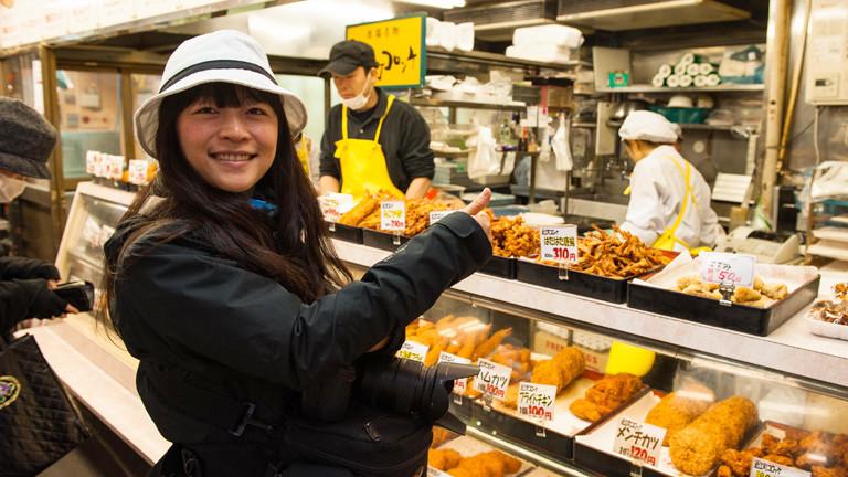 Bloggerin Qin Xie-Krieger auf einer kulinarischen Reise.