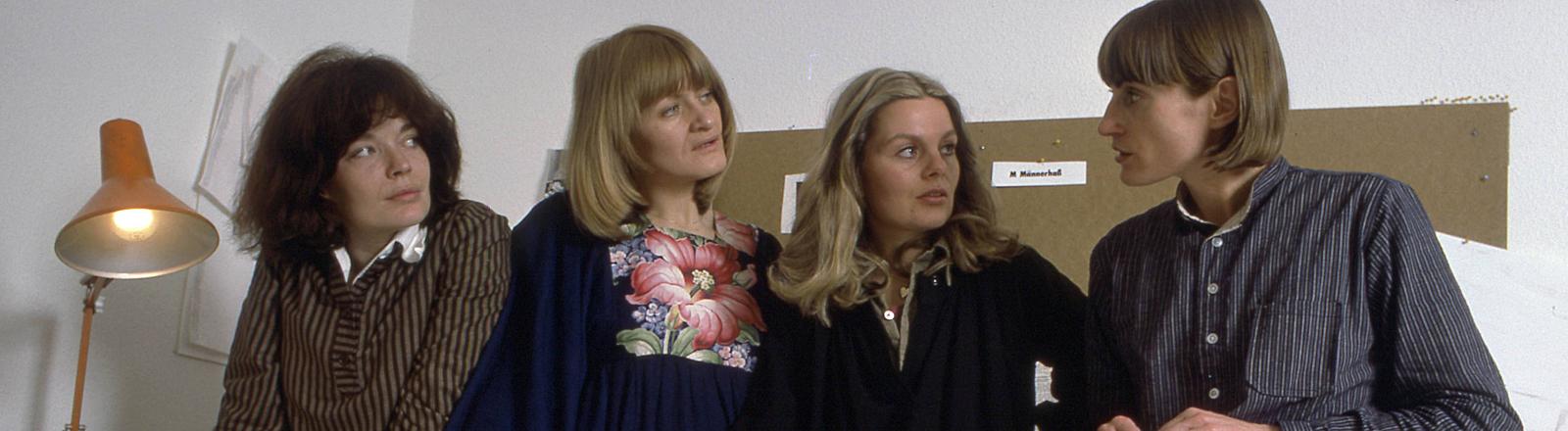 Die Redaktion von EMMA im Jahr 1977