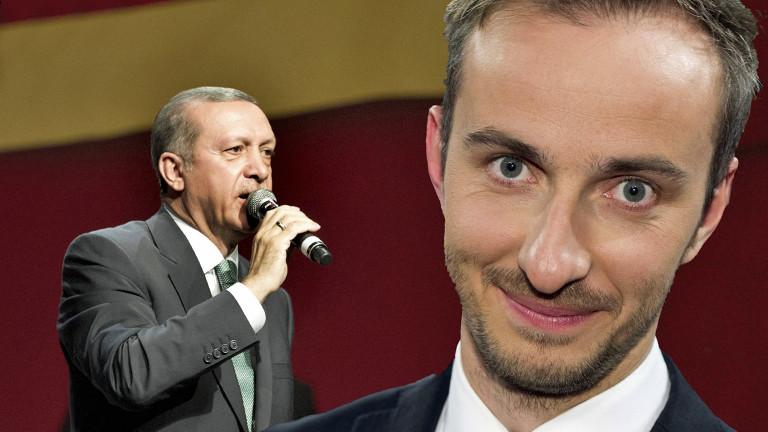 Jan Böhmermann und Recep Tayyip Erdogan.