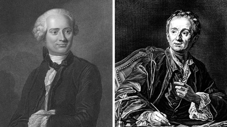 Jean-Baptiste le Rond d'Alembert und Denis Diderot
