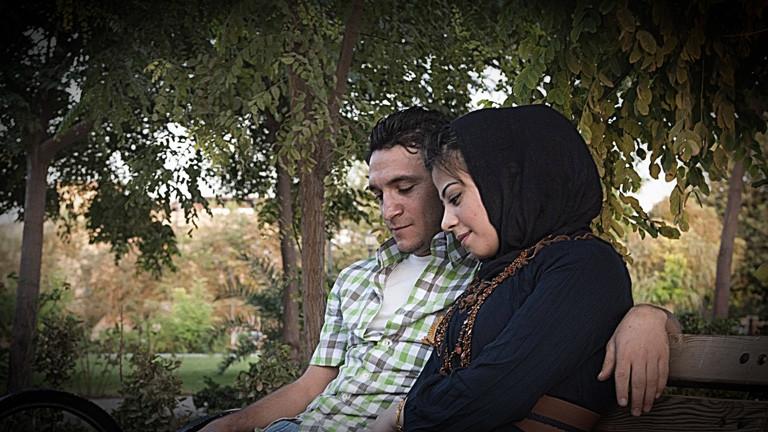 Ein kurdisches Paar in Erbil, Irak