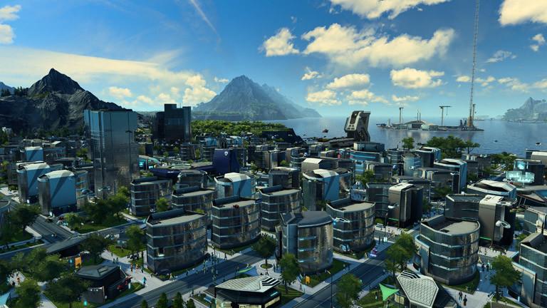 "Szene aus dem Computerspiel ""Anno 2205"""