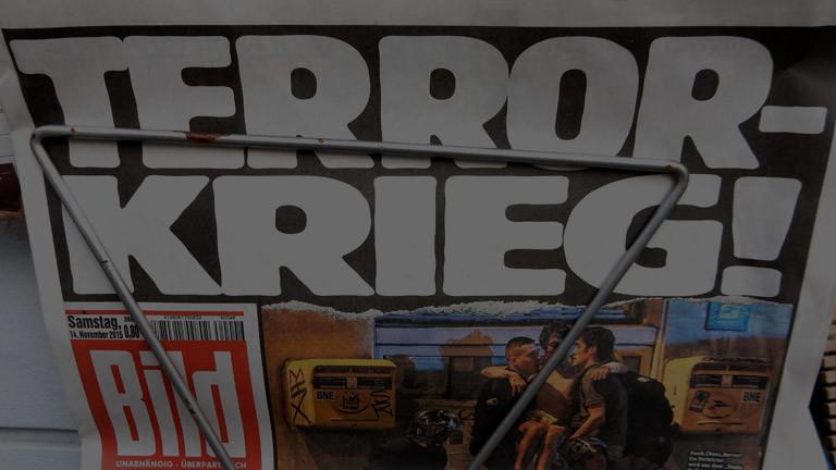 Eine Schlagzeile zu einem Terroranschlag in der Bild-Zeitung