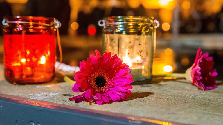 Kerzen anlaesslich des Jahrestages des Amoklaufes von Winnnenden, Winnenden, 11.03.2016.