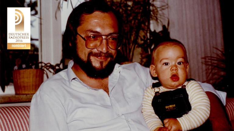 Dominik Schottner als Kind mit seinem Vater
