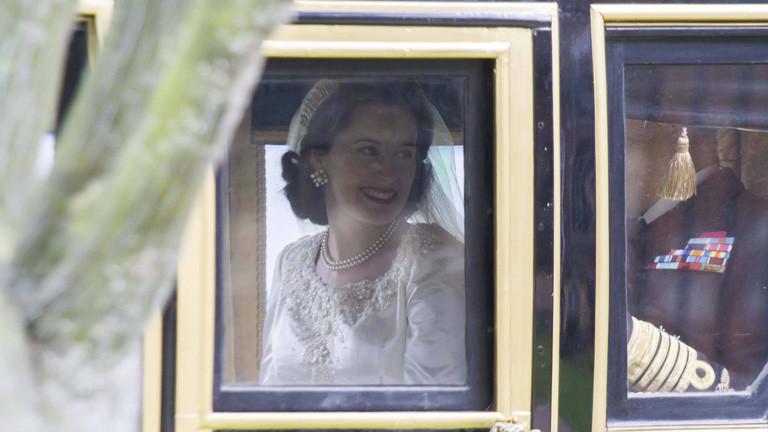 """Claire Foy als Königin Elisabeth II. in der Netzflix-Serie """"The Crown"""""""