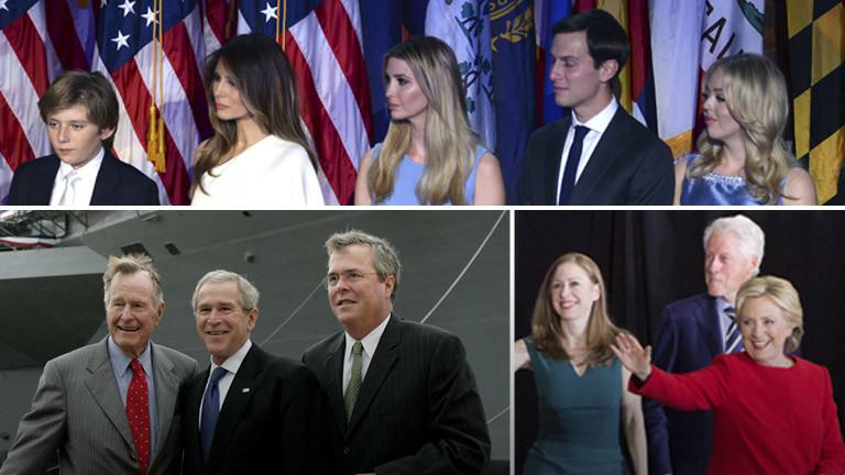 Familie Trump, Familie Bush und Familie Clinton