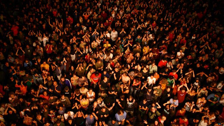 Publikum auf einem Festival