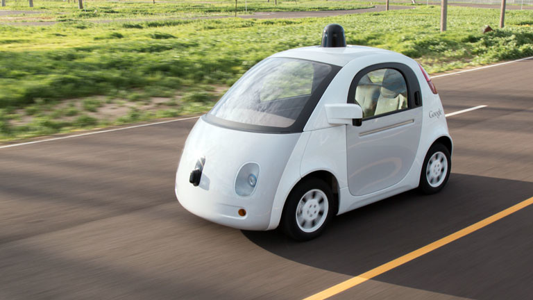 Ein selbstfahrendes Auto von Google.