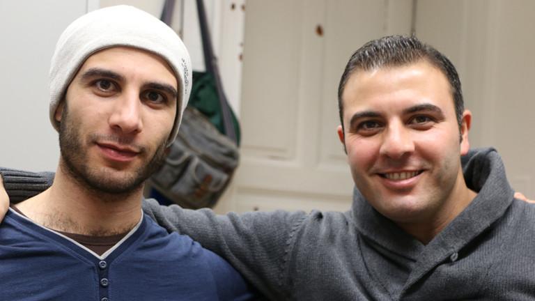 Omar mit seinem Bruder Mahmoud
