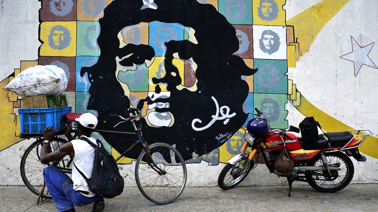 Wandmalerei mit Che Guevara.