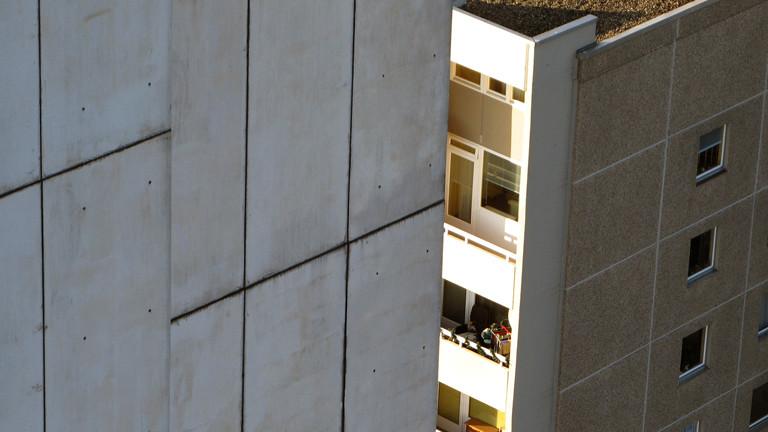 Betonbalkon in der Gropiusstadt Berlin