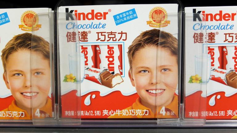 Kinderschokolade mit chinesischen Schriftzeichen