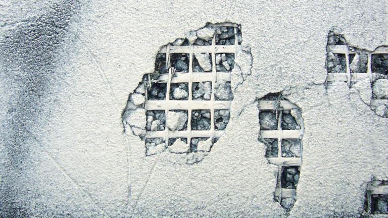 Aufgerissene Wand