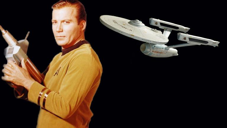 Captain Kirk vom Raumschiff Enterprise.