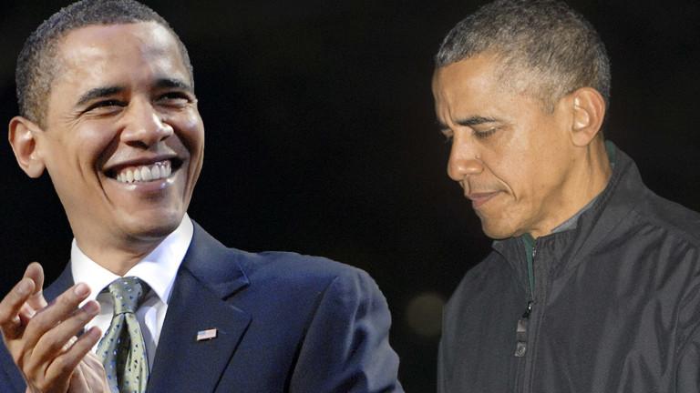 Der junge Obama 2008 und der erschöpfte Obama 2016.