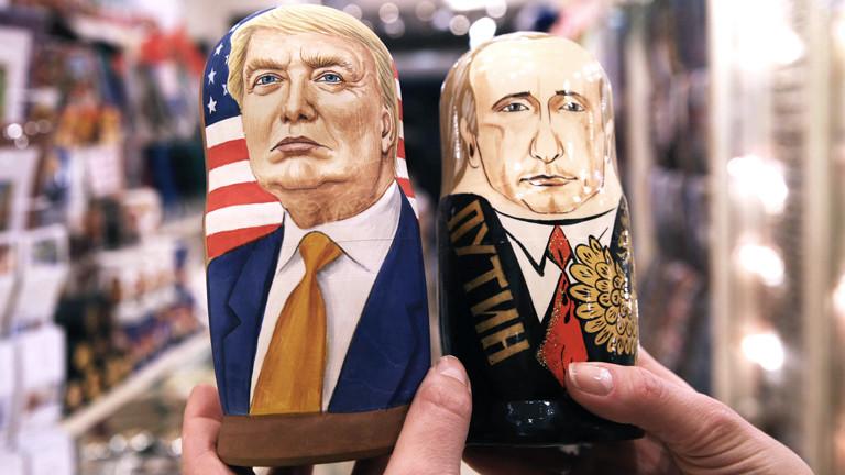 Trump und Putin Matroschka-Puppen