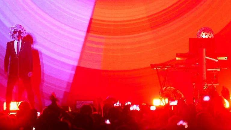 Die Pet Shop Boys auf der Bühne