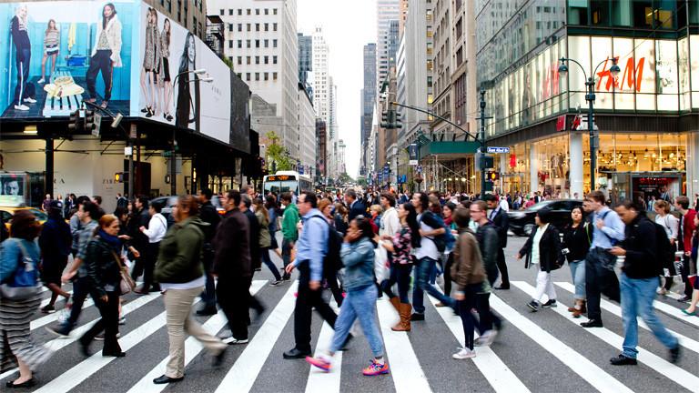 Menschenmenge, Straßenszene in New York