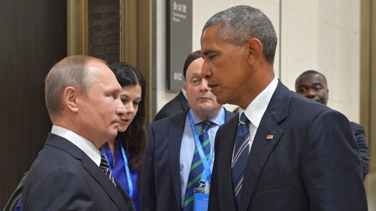 Obama und Putin am 5. September 2016 am Rande des G20- Gipfels in Hangzhou, China.