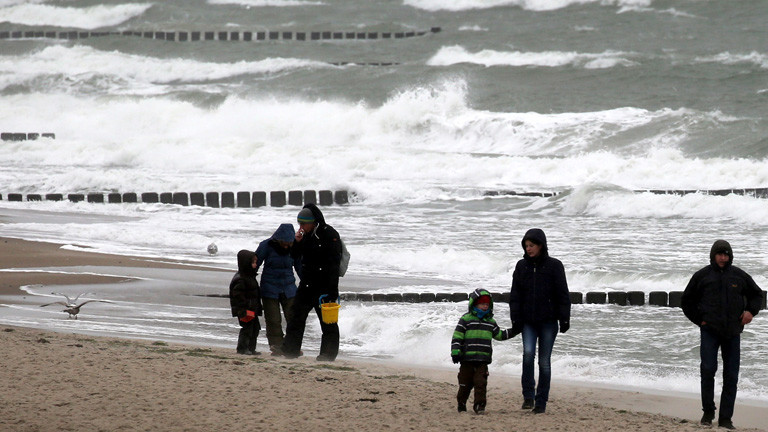 Am Tag vor der Sturmflut an der Ostsee 2017