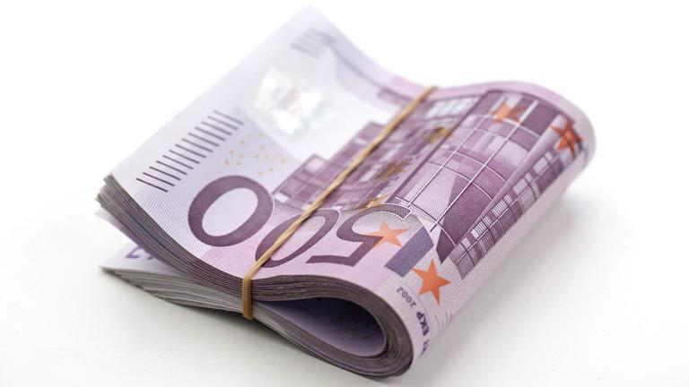 Geldbündel aus Fünfhundert-Euro-Scheinen