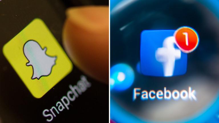 Snapchat und Facebook
