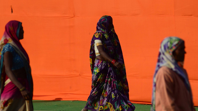 Frauen in Allahabad, Indien