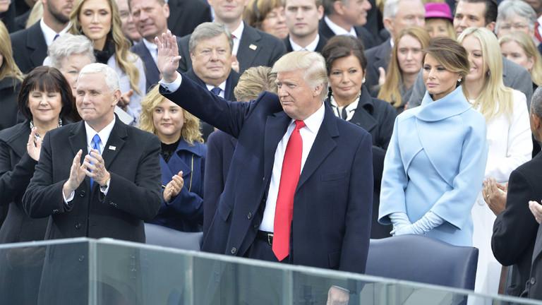 Donald Trump bei der Amtseinführung