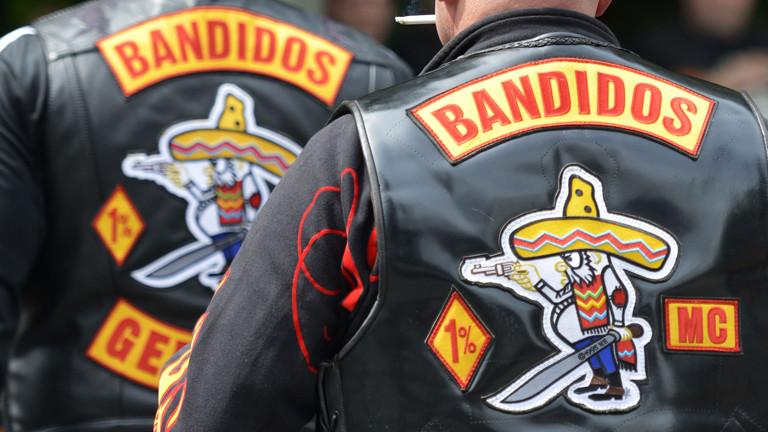 Mitglieder des Motorradclubs Bandidos am 11.06.2012 in Bottrop.