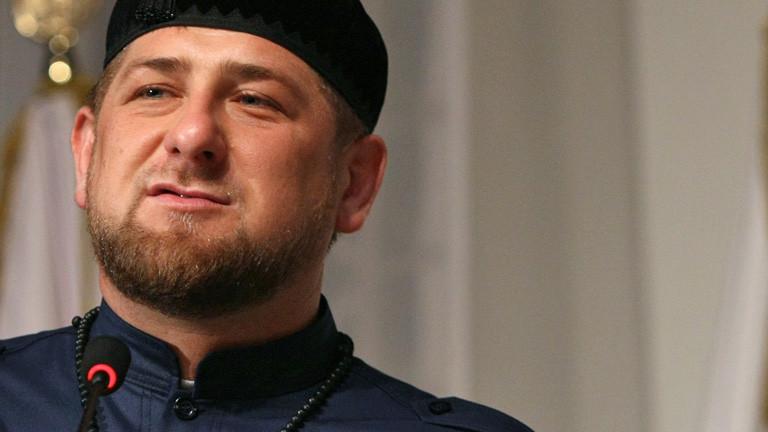 Tschetscheniens Präsident Ramzan Kadyrov bei einer Rede (23. März 2012); Foto: dpa