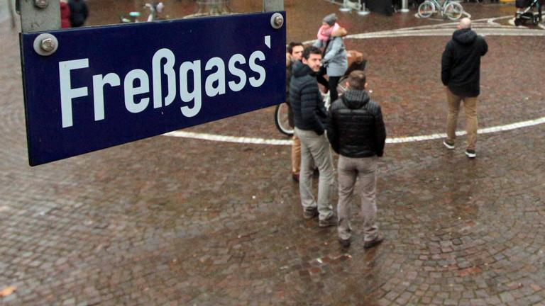 Die Frankfurter Freßgass.