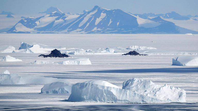 Berge in der der Antarktis