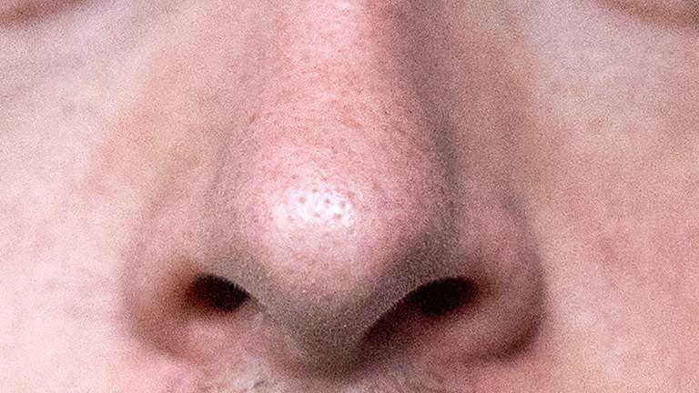 Nahaufnahme einer männlichen Nase